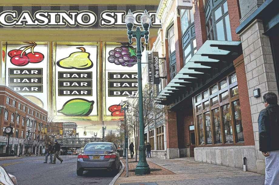 Schenectady casino. Photo Illustration by Tyswan Stewart / Times Union
