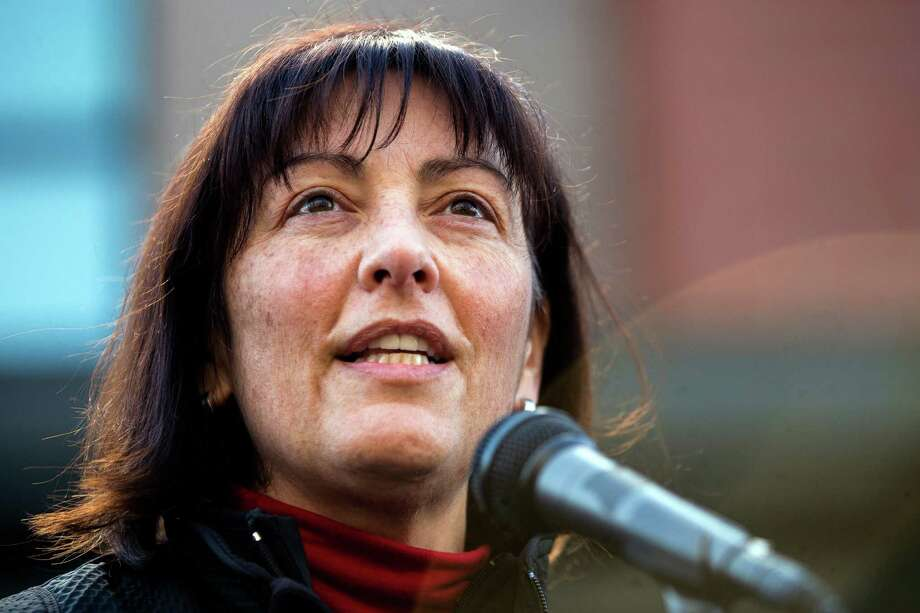 "Congresswoman Suzan DelBene delivers Democrats' weekly radio address, and unloads on Republicans' tax cut plan.  ""While corporations get a massive permanent 15 percent reduction in their tax rate, hardworking Americans are forced to pick up the tab."". Photo: JORDAN STEAD, SEATTLEPI.COM / SEATTLEPI.COM"