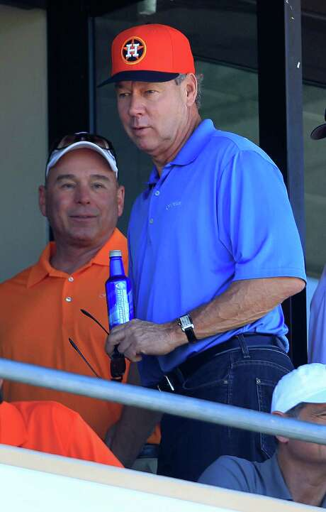 Owner Jim Crane likes what he's seen of the Astros this spring so much that he thinks a .500 season is within reach. Photo: Karen Warren, Staff / © 2013 Houston Chronicle