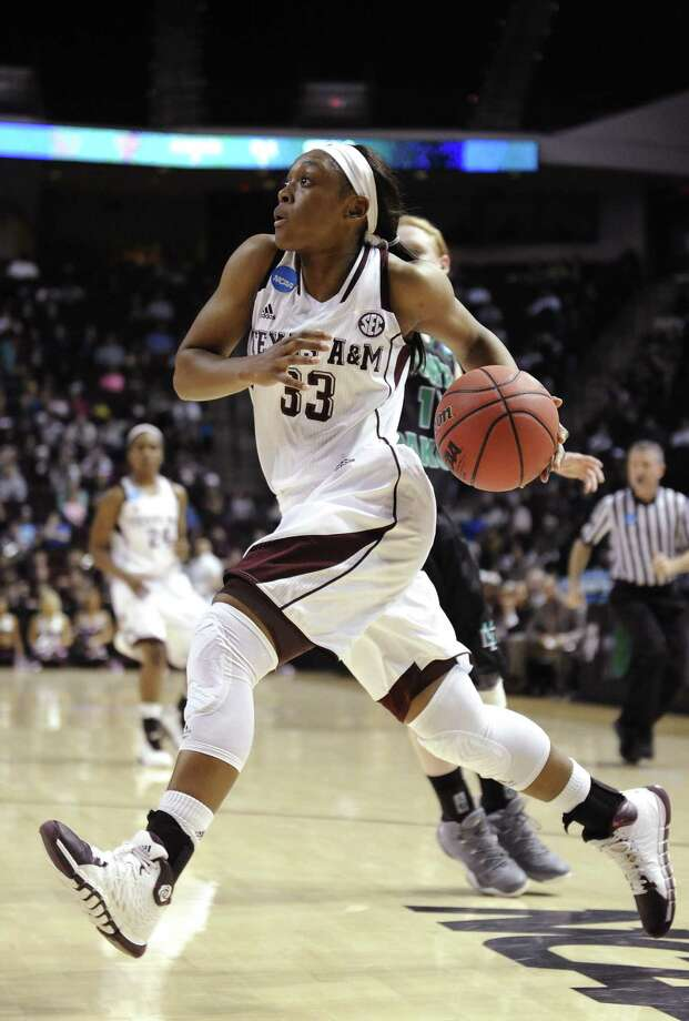 Courtney Walker led Texas A&M with 19 points, including 11 in a crucial second half. The Aggies, who only led by four at intermission, are one win away from their first Sweet 16 in two seasons. Photo: Pat Sullivan / Associated Press / AP