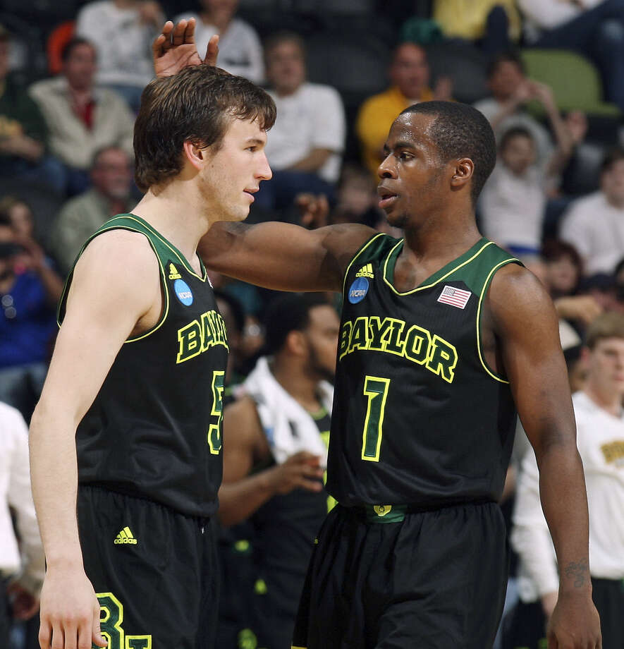 Baylor's Brady Heslip and teammate Kenny Chery each started Sunday's game 4 for 4 from 3-point range. Photo: Edward A. Ornelas / San Antonio Express-News / © 2014 San Antonio Express-News