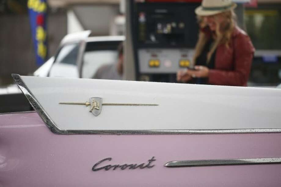 Siobhan Neilland says the rear lines on her 58 Dodge coronet are one her favorite parts on the car. Photo: The Chronicle
