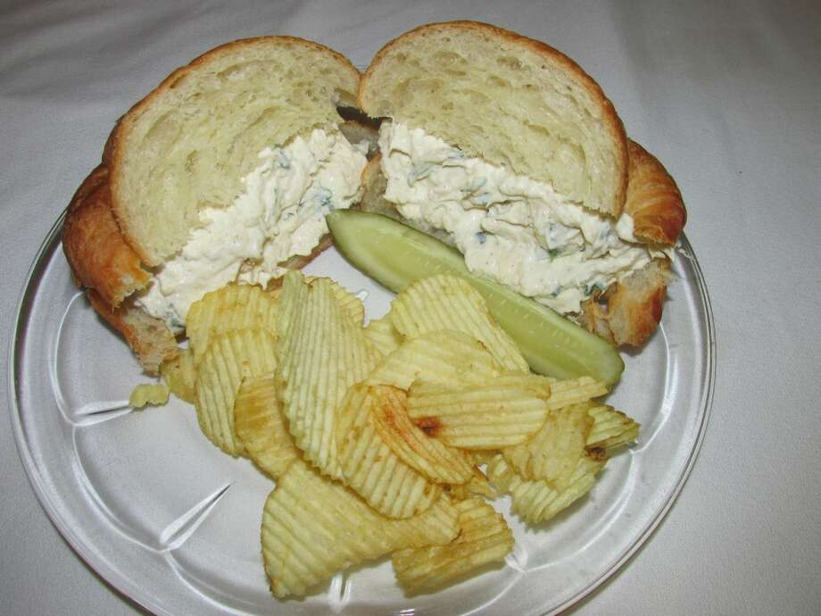 The infamous Courtyard Cafe chicken salad on a croissant. Photo: Cat5