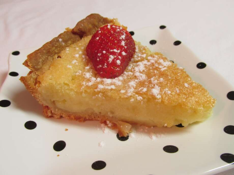 Buttermilk pie at the Courtyard Cafe in Groves. Photo: Cat5