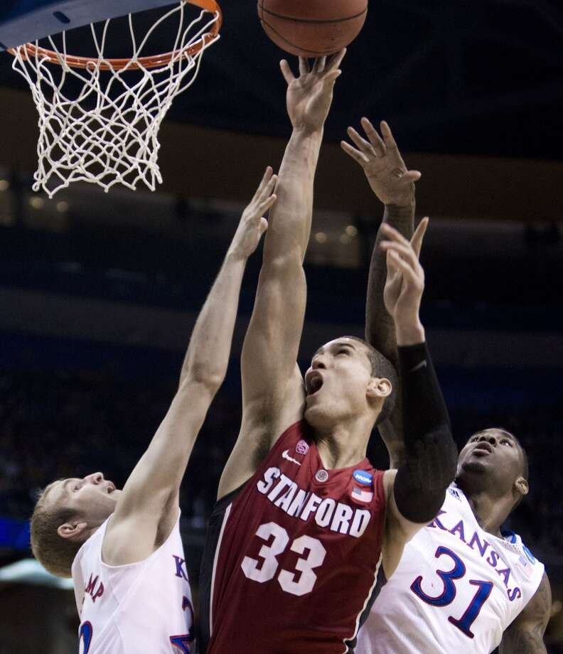 March 23: Third round  No. 10 Stanford 60, No. 2 Kansas 57 Dwight Powell had 15 points and seven rebounds as the Cardinal sent the Jayhawks home. Photo: Shane Keyser, MCT