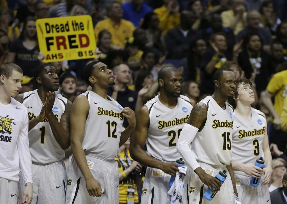 March 21: Second round  No. 1 Wichita State 64, Cal Poly 36 The Shockers continued their successful season in the second round. Photo: Jeff Roberson, Associated Press