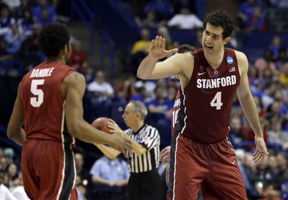 March 21: Second round  No. 10 Stanford 58, New Mexico 53  Cardinal players celebrate against the Lobos. Photo: Jeff Roberson, Associated Press