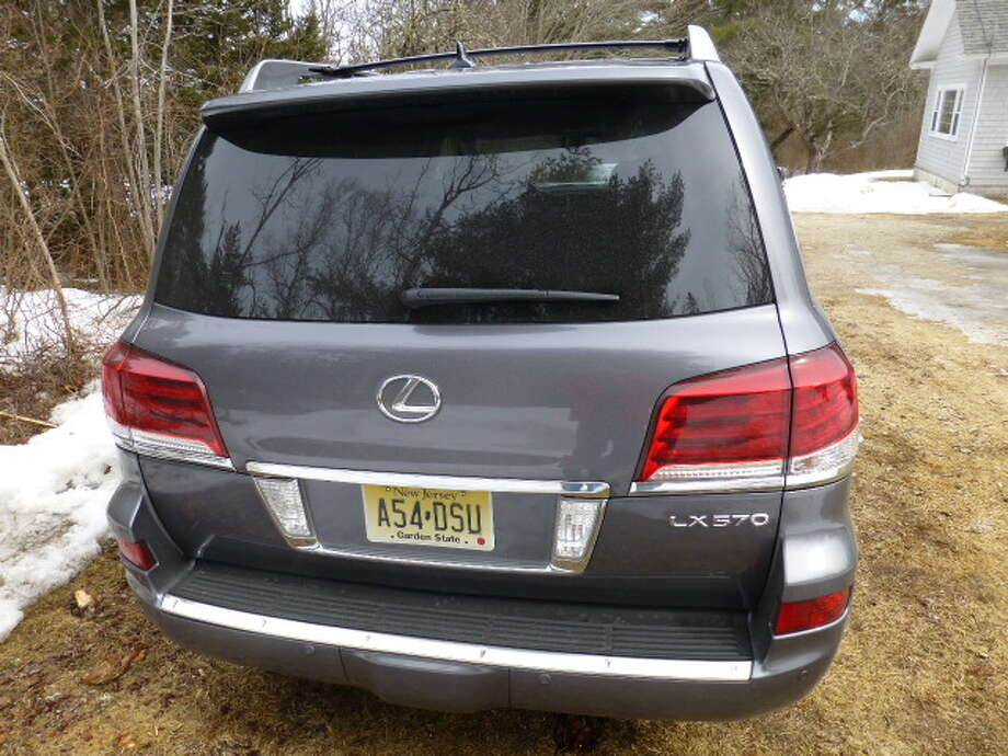 Unlike most SUVs, the LX 570 has a two-piece hatchback.