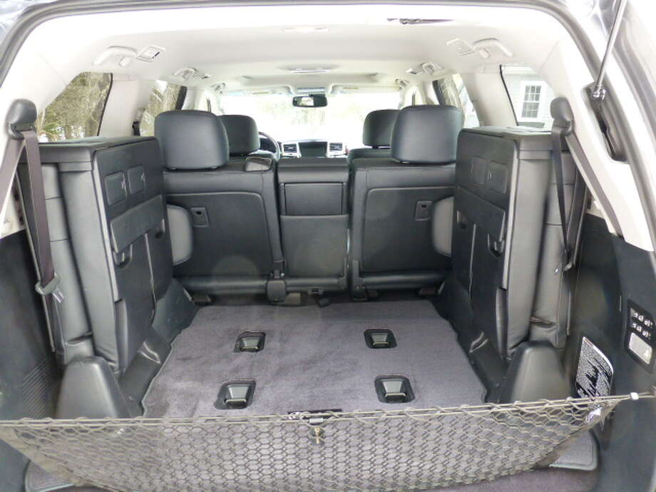 The two jump seats take up room that could be used for cargo. Most SUVs fold their third row seats into the floor.