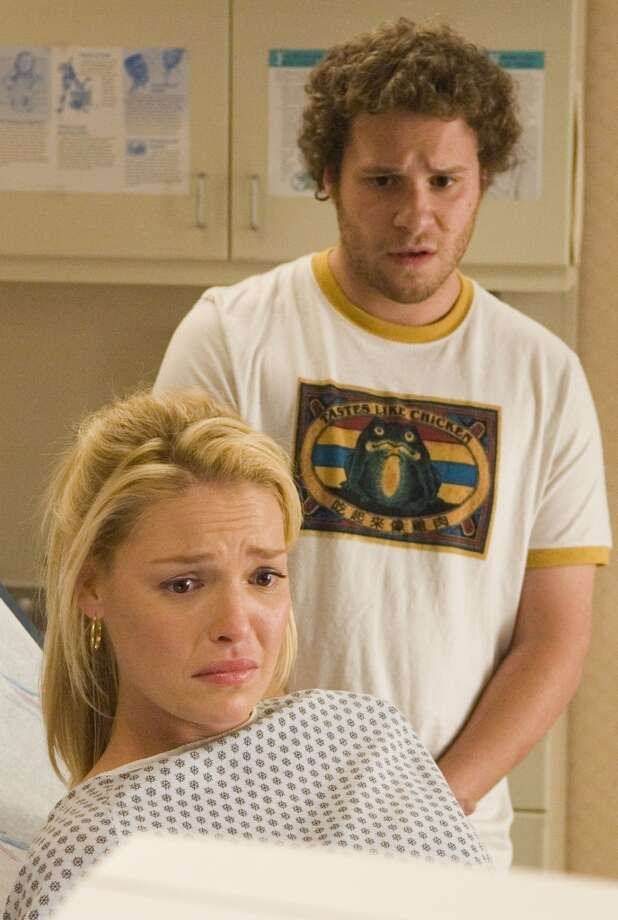 """Katherine Heigl and Seth Rogen, """"Knocked Up."""" In your dreams, Rogen. Photo: Photo Credit: Suzanne Hanover"""