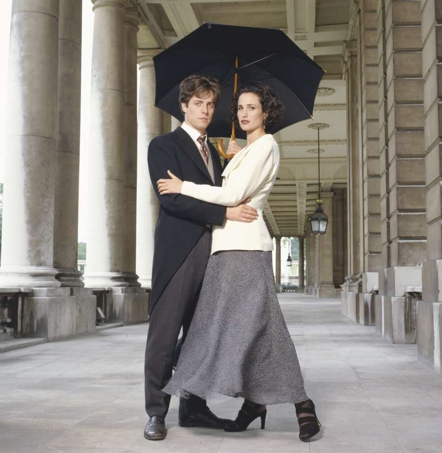"Hugh Grant and Andie MacDowell, ""Four Weddings And A Funeral.""