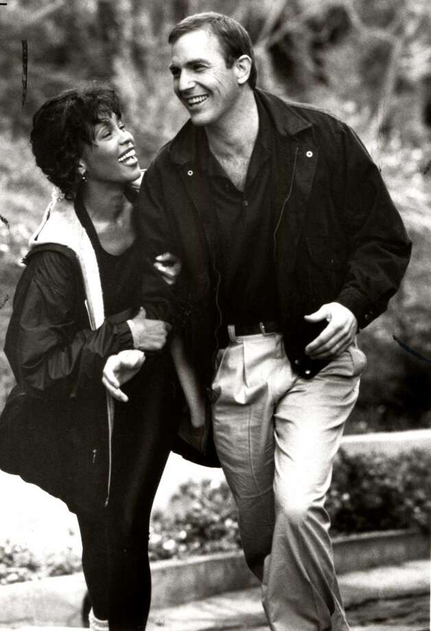 """Whitney Houston and Kevin Costner, """"The Bodyguard."""" It would have helped if at least one of them could act. We still love Whitney as a singer (RIP), so long as we never have to hear """"I will always love you"""" ever, ever again. Photo: Warner Bros., Handout"""