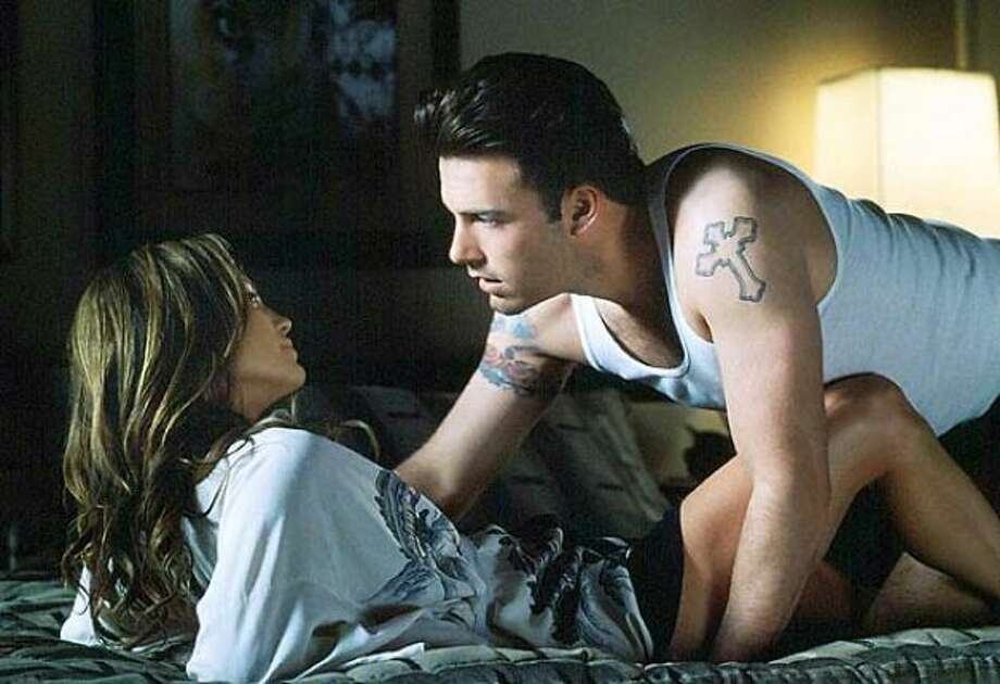 """Ben Affleck and Jennifer Lopez, """"Gigli."""" Another real-life couple. Yeah, they didn't make it either. Photo: Columbia Pictures"""