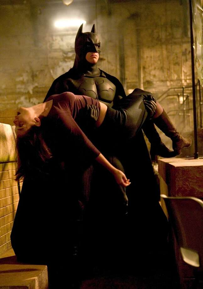 "Christian Bale and Katie Holmes, ""Batman Begins.""
