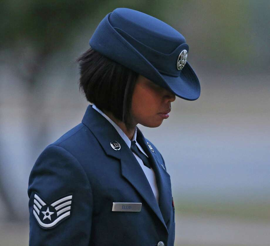 Air Force Staff Sgt. Annamarie Ellis pleaded guilty Monday to charges she abused recruits. Photo: Jerry Lara, San Antonio Express-News / © 2014 San Antonio Express-News