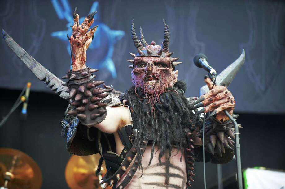 Oderus Urungus of Gwar performs on stage during the third and final day of Download Festival at Donnington Park on June 12, 2011 in Donnington, United Kingdom. Photo: Gary Wolstenholme, Redferns / 2011 Gary Wolstenholme