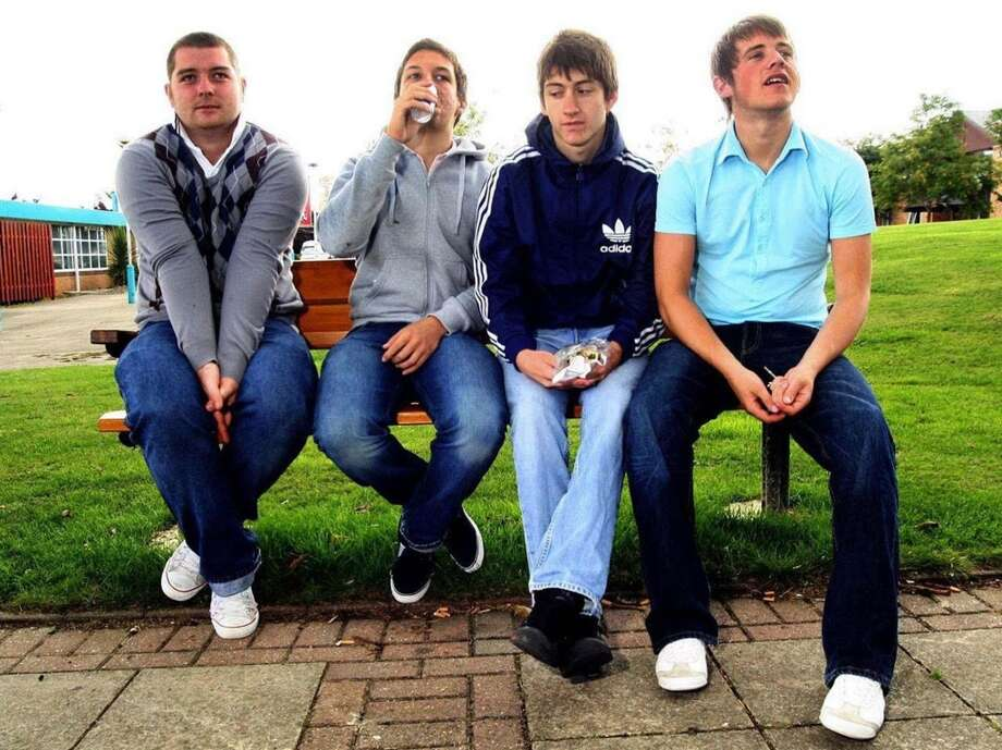 Arctic Monkeys: The effects of puberty were still apparent on the Arctic Monkeys' faces when they smashed the record for the fastest selling debut album of all time in Britain with 2006's Whatever People Say I Am, That's What I'm Not. Photo: AP
