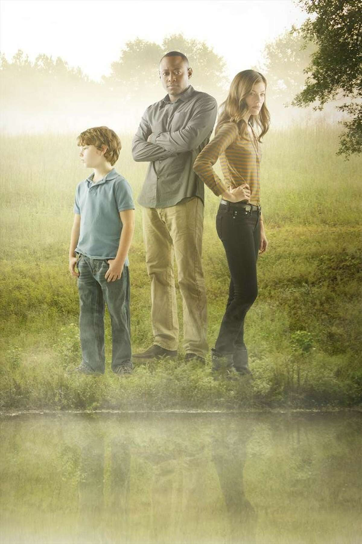 "ABC's ""Resurrection"" stars Landon Gimenez as Jacob Langston, Omar Epps as J. Martin Bellamy and Devin Kelley as Maggie Langston."