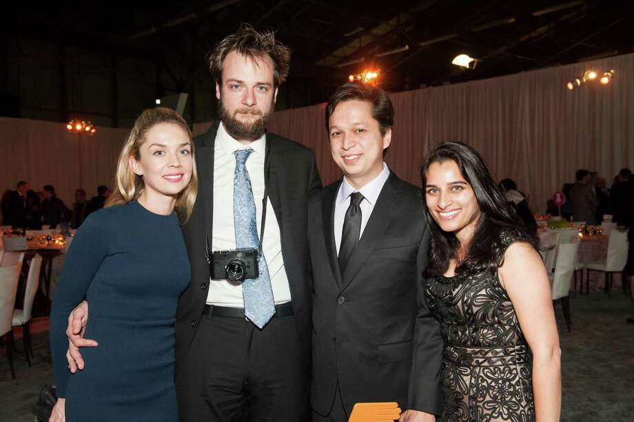 Christina Sharp, Evan Sharp, Ben Silbermann and Divya Silbermann at the 2014 BUILD Gala on March 1, 2014. Photo: Susana Bates For Drew Altizer, Drew Altizer Photography / 2014 Drew Altizer Photography