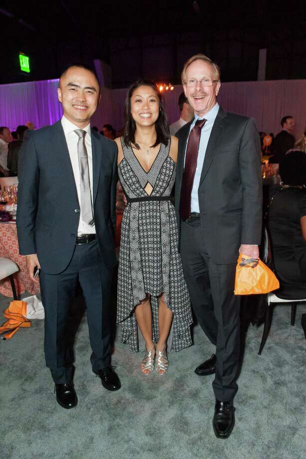 Jun Yang, Grace Chen and Randy Wigginton at the 2014 BUILD Gala on March 1, 2014. Photo: Susana Bates For Drew Altizer, Drew Altizer Photography / 2014 Drew Altizer Photography