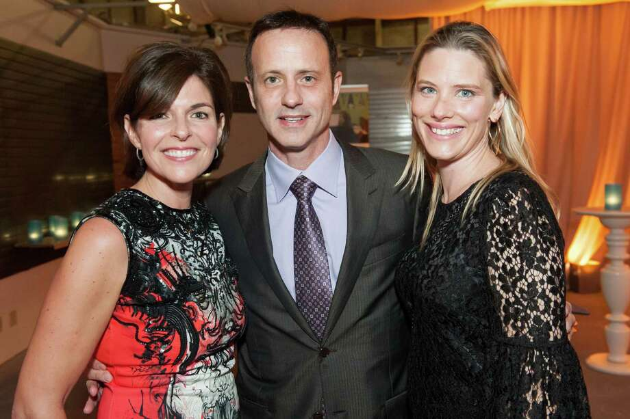 Sarah Lucas, Brian Boitano and Liz Laffont at the 2014 BUILD Gala on March 1, 2014. Photo: Susana Bates For Drew Altizer, Drew Altizer Photography / Drew Altizer Photography