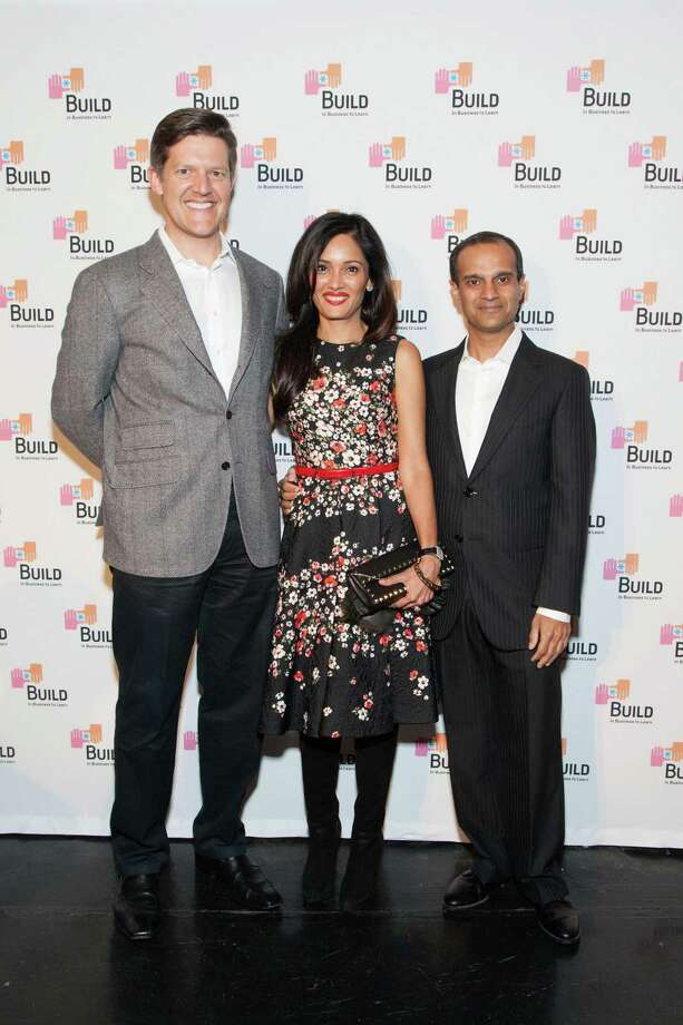 Roelof Botha, Komal Shah and Gaurav Garg at the 2014 BUILD Gala on March 1, 2014. Photo: Drew Altizer, Drew Altizer Photography