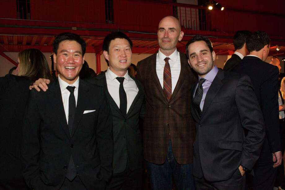 Jerry Chen, James Kim, Josh Hannah and David Spector at the 2014 BUILD Gala on March 1, 2014. Photo: Laura Morton, Drew Altizer Photography / © 2014 Drew Altizer