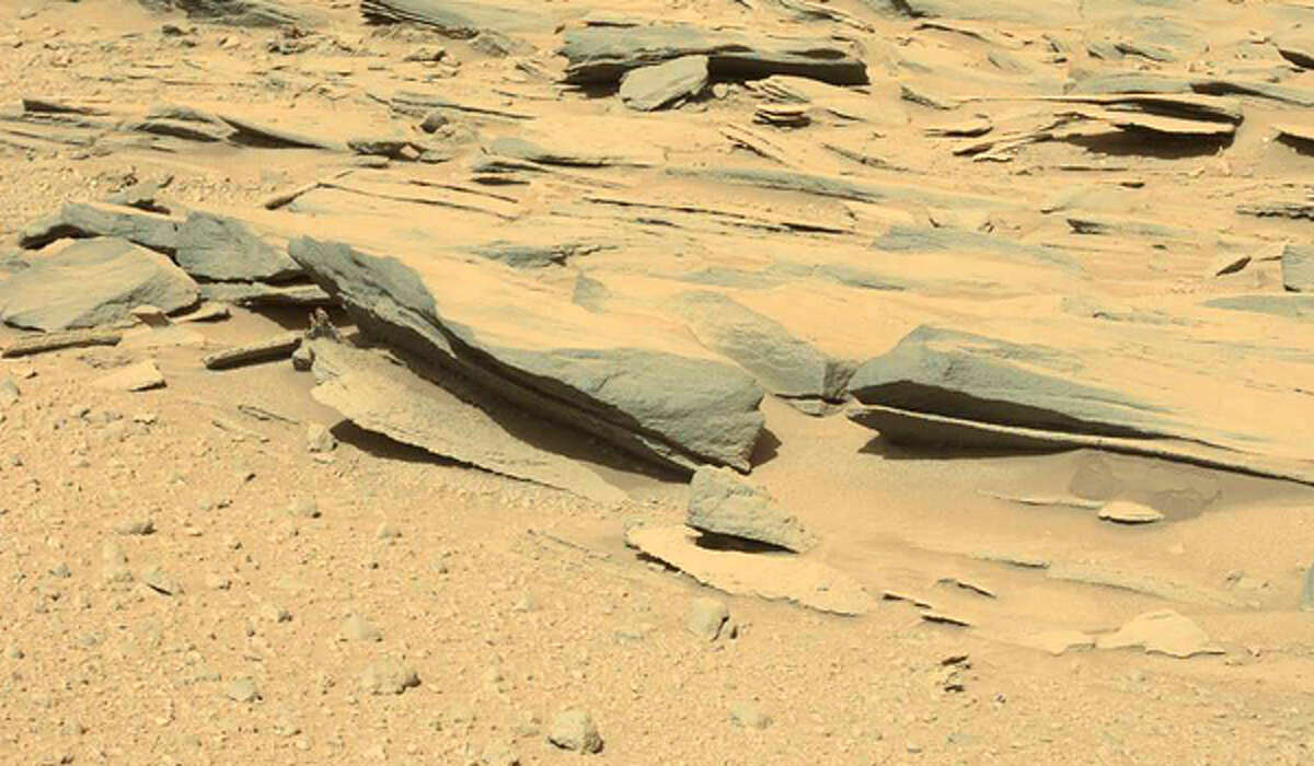 This image from Mars was taken by the left mastcam aboard NASA's rover Curiosity on Martian day 574 (March 18, 2014). (Photo: NASA/JPL-Caltech/MSSS)