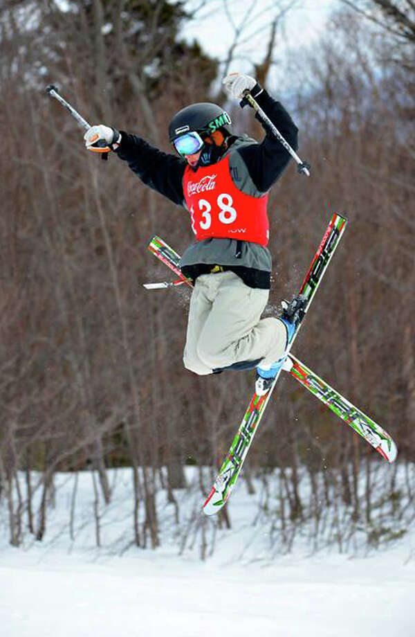 Mac Forehand, of Fairfield, competing at the Vermont State Championships in early March at Mount Snow in West Dover, VT. Photo: Contributed Photo / Fairfield Citizen