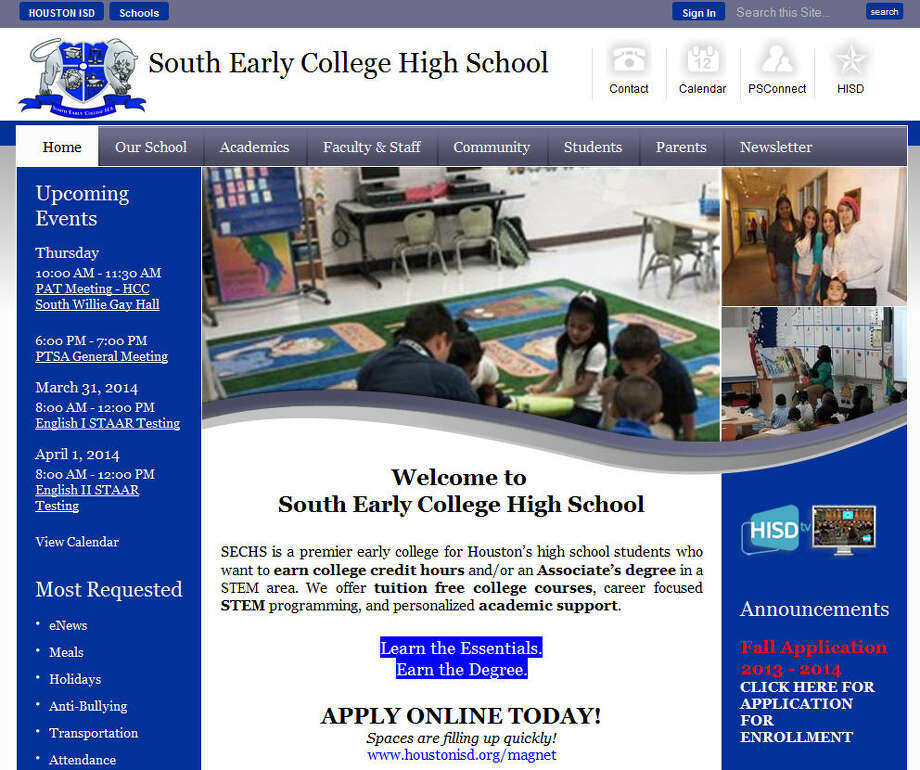 Empowerment South Early College High SchoolHouston ISDGrade: A-Graduation rate: n/aSource: Niche Photo: Empowerment South Early College High School
