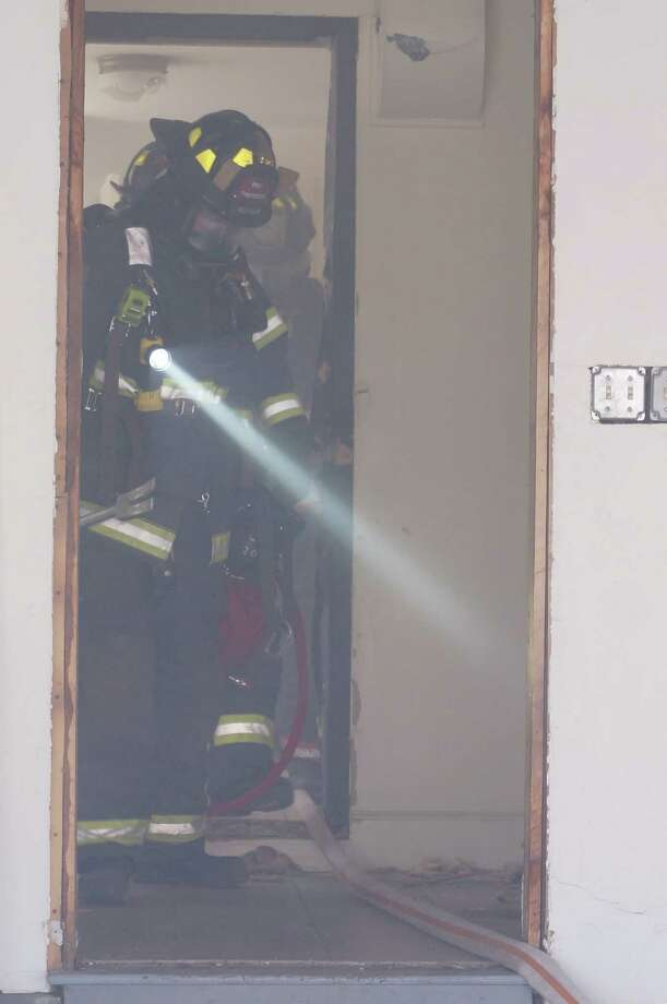 Firefighters from Fairfield and Westport have been training to be part of a Rapid Intervention Team, as part of a mutual aid agreement. During a fire in Westport, for example, a team from Fairfield would be standing by if needed to rescue trapped or injured firefighters. Photo: Genevieve Reilly / Fairfield Citizen