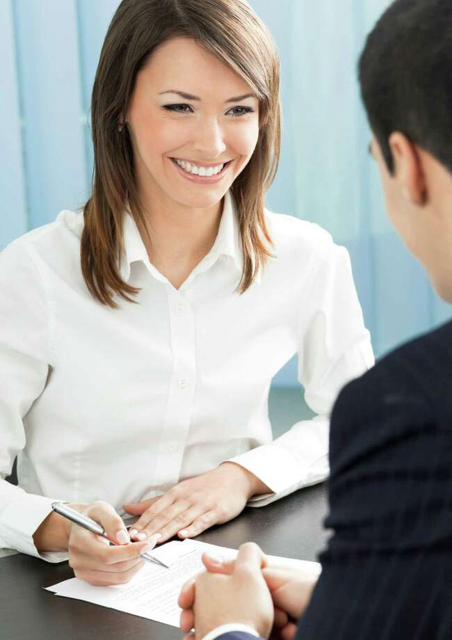 In a new survey distributed by CollegeAtlas.org, more than two-thirds of hiring managers said the failure to make eye contact is the most common nonverbal mistake that applicants make. (Fotolia) / vgstudio - Fotolia