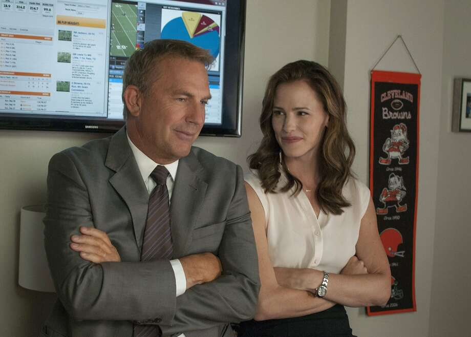 "'Draft Day' opens in theatersKevin Costner plays the Cleveland Browns' general manager and Jennifer Garner, the team's salary-cap whiz in ""Draft Day."" The movie opens this Friday.  Photo: Summit / Lionsgate"