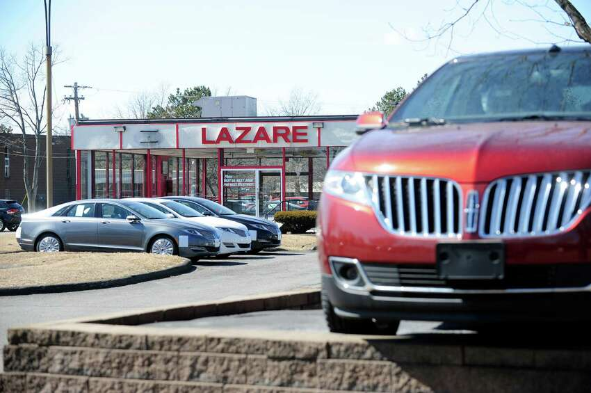 A view of the Lazare Lincoln car dealership on Wolf Road in Colonie as seen in 2014. (Paul Buckowski / Times Union)
