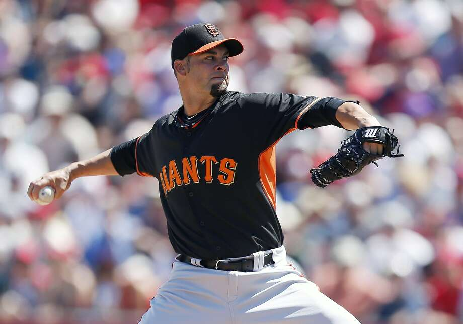 Projected fifth starter Ryan Vogelsong has given up 19 runs in 19 innings this spring, but insists he is getting better. Photo: Ross D. Franklin, Associated Press