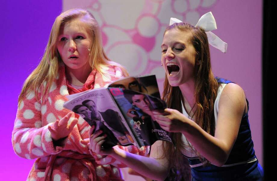 "Photos from the dress rehearsal of ""Legally Blonde"" at Danbury High School in Danbury, Conn. Monday, March 24, 2014.  The musical, directed by Michael Burnett and starring Kerry Moore as lead character Elle Woods, will be shown Thursday, March 27 at 7 p.m., Friday at 7:30 p.m. and Saturday at 7:30 p.m. Photo: Tyler Sizemore / The News-Times"