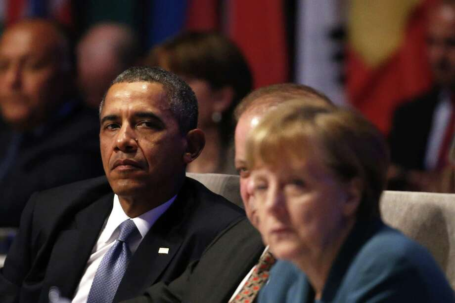 President Barack Obama will meet with leaders of the European Union and NATO on Wednesday. Photo: YVES HERMAN, Staff / AFP