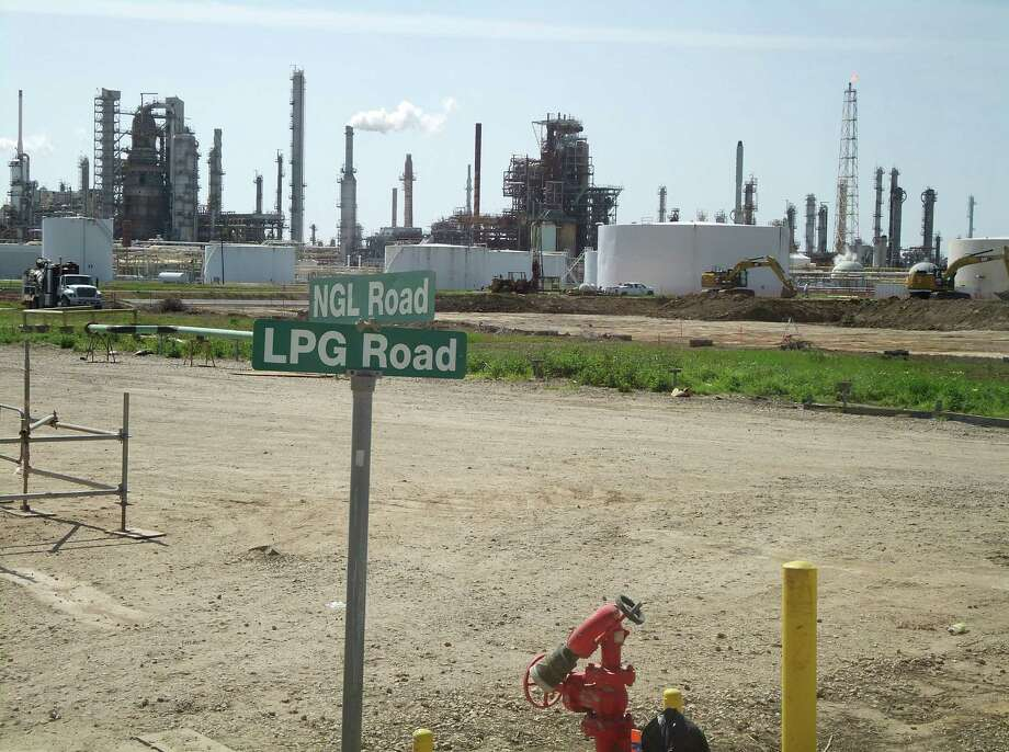 Roads on the site of the planned fractionator at the Phillips 66 plant in Old Ocean near Houston are named for materials it will process or produce, including natural gas liquids and liquefied petroleum gas. There is a growing demand for natural gas products such as ethane, propane and butane. Photo: Photos By Ryan Holeywell / Houston Chronicle