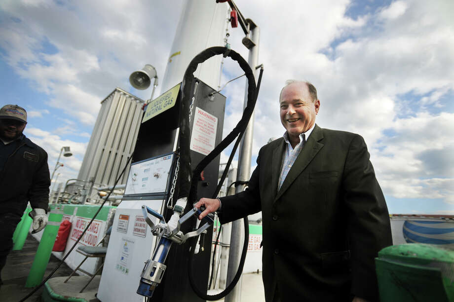 Bill Malone, president of Enviro Express Inc., at his company's compressed natural gas/liquid natural gas fueling station in Bridgeport, Conn. on Thursday, March 20, 2014. Photo: Brian A. Pounds / Connecticut Post