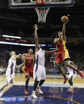 March 24: Rockets 100, Bobcats 89  Houston turned a close game into a relatively easy victory in the closing minutes against Charlotte.  Record: 48-22 Photo: Bob Leverone, Associated Press