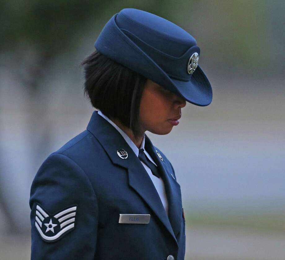 Air Force Staff Sgt. Annamarie Ellis pleaded guilty Monday to charges of maltreating and maltraining basic trainees. Photo: Jerry Lara / San Antonio Express-News / © 2014 San Antonio Express-News
