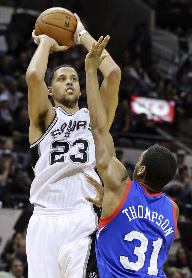 Spurs forward Austin Daye enjoyed his biggest game since joining the team scoring 22 points and grabbing six rebounds in 28:34 of court time. He made 6 of 10 from 3-point range. Photo: Edward A. Ornelas, San Antonio Express-News / © 2014 San Antonio Express-News