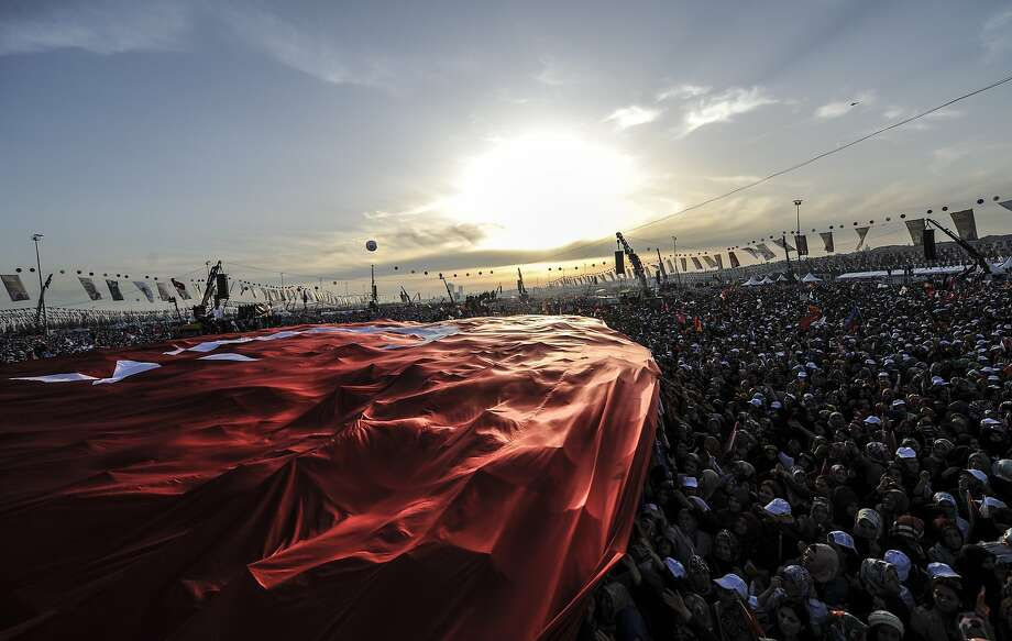 Vote for Erdogan, a man who doesn't listen: Supporters of Turkey Prime Minister Tayyip 