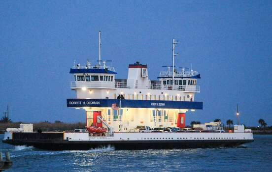 Ferry service resumed at 7 a.m. Tuesday between Galveston Island and the Bolivar Peninsula. For now, services will be limited to between 7 a.m. and 7 p.m. daily. Photo: Cody Duty, Houston Chronicle