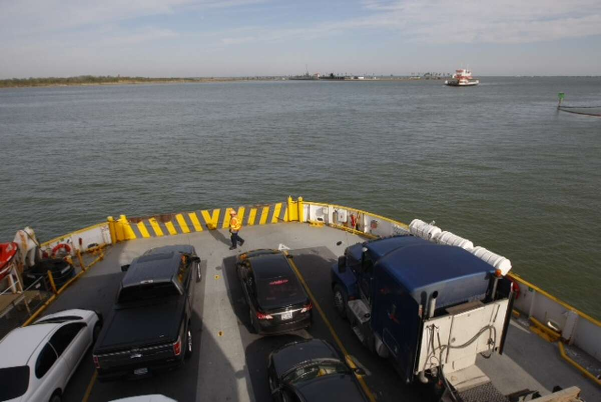 The Robert C. Lanier ferry boat resumes its duties between Galveston Island and the Bolivar Peninsula on Tuesday morning.