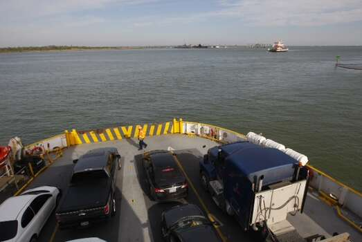 The Robert C. Lanier ferry boat resumes its duties between Galveston Island and the Bolivar Peninsula on Tuesday morning. Photo: Cody Duty, Houston Chronicle