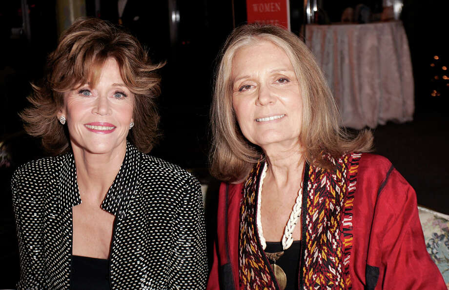 Jane Fonda and Gloria Steinem during the 36th Anniversary Gala of The Feminist Press with Jane Fonda, Eve Ensler and Gloria Steinem at Tavern on the Green in New York, 2006. Photo: Brian Ach, Getty Images / WireImage