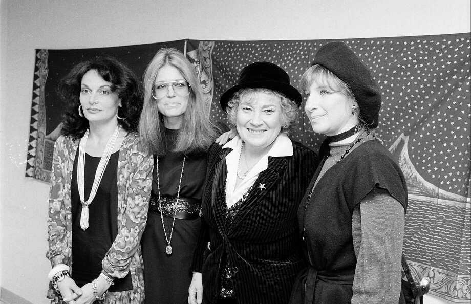 Diane Von Furstenberg, Gloria Steinem, Bella Abzug, and Barbara Streisand in 1981. Photo: Time & Life Pictures, Getty Images / Time & Life Pictures