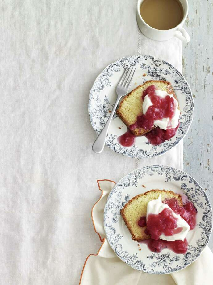 Sour-Cream Vanilla Pound Cake with Rhubarb Compote From Country Living Photo: Andrew Purcell