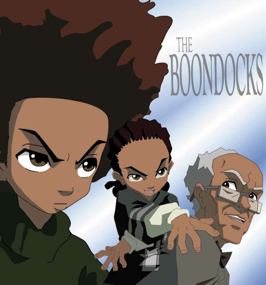 "This promotional photo provided by Sony Pictures Television shows animated characters Huey, left, Riley, center, and Granddad Freeman from the animated series ""The Boondocks,"" on Adult Swim, Cartoon Network's late-night sister network featuring animation for adults. Photo: HO / SONY PICTURES TELEVISION"